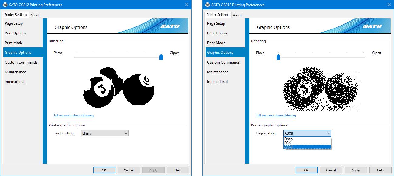 Printing Graphics using SATO Windows Printer Driver | SATO